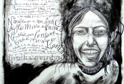 """Text: Keny Arkana """"Ils ont peur de la liberté"""". Fille de Danakil. ©annikagemlau2013"""