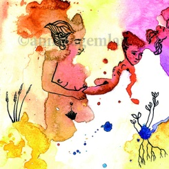 CEREALES FEMENINOS postcard 10,7 x 15 cm ©annikagemlau2015