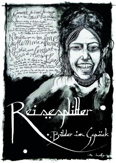 "Exhibition Reisesplitter in Freiburg ©annikagemlau2015 - lyrics by Keny Arkana from the song ""Ils ont peur de la liberté"""
