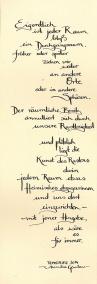 """""""Rasten in Durchgangsräumen"""" - lyrics and calligraphy by ©annikagemlau"""