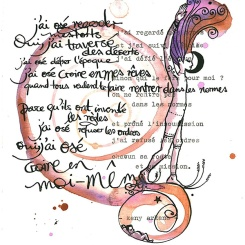 "J'ai osé ©annikagemlau; lyrics by Keny Arkana from the song ""j'ai osé"""
