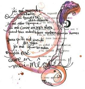 """J'ai osé ©annikagemlau; lyrics by Keny Arkana from the song """"j'ai osé"""""""
