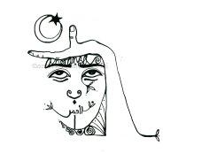 HUIPILISMO NEGRO 4 DinA4 ©annikagemlau2016 --- añoranza = yearning, word in arabic: moon
