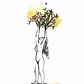 MUJERÁRBOL DinA5 ©annikagemlau2017 --- tree woman