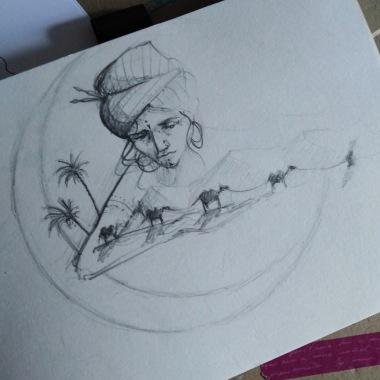 healing the nomadic soul - sketch
