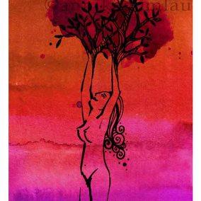 MUJERÁRBOL (warm) midi ©annikagemlau - Verbundenheit von Weiblichkeit mit Wäldern, Fruchtbarkeit und Wachstum