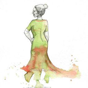 BAILA'ORA DinA5 ©annikagemlau --- Flamenco Dancer