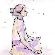 Emilie meditando ©annikagemlau - Zentrierung und Aktivierung der inneren Mitte
