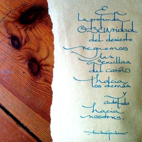 semillas del carinyo ©annikagemlau; lyrics by Annika Gemlau